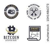 blockchain  bitcoin  crypto... | Shutterstock .eps vector #1041486373