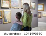 happy american mother and son... | Shutterstock . vector #1041490990