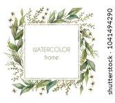 floral wreath. botanical... | Shutterstock . vector #1041494290