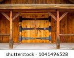 interesting doorway entrys | Shutterstock . vector #1041496528