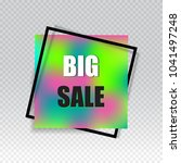 big sale square banner. black... | Shutterstock .eps vector #1041497248