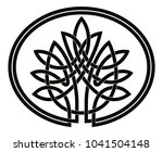 vector celtic national drawing. ... | Shutterstock .eps vector #1041504148