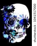 skull with flowers | Shutterstock . vector #1041517000
