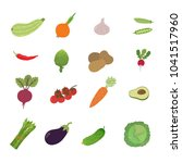 illustration set vegetable | Shutterstock .eps vector #1041517960