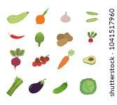 illustration set vegetable   Shutterstock .eps vector #1041517960