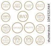 organic symbols. vector set   Shutterstock .eps vector #1041521464