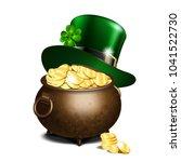 St. Patricks Day Symbols. Gree...