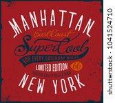 manhattan new york tee shirt...   Shutterstock .eps vector #1041524710