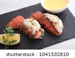 grilled lobster tail | Shutterstock . vector #1041532810
