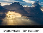 colorful dramatic sky with... | Shutterstock . vector #1041533884