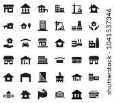 flat vector icon set   house...   Shutterstock .eps vector #1041537346