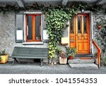 facade of a french country house | Shutterstock . vector #1041554353