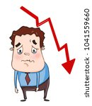 cartoon businessman very sad... | Shutterstock .eps vector #1041559660
