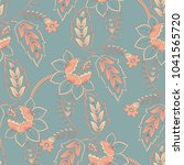 elegance seamless pattern with... | Shutterstock .eps vector #1041565720
