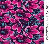 floral pattern texture | Shutterstock .eps vector #1041572500