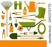 garden tool. vector background.   Shutterstock .eps vector #1041572770