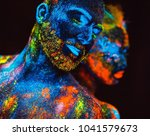 portrait of a pair of lovers... | Shutterstock . vector #1041579673