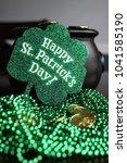st. patricks day pot of gold | Shutterstock . vector #1041585190