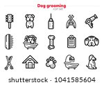set of dog grooming line art... | Shutterstock .eps vector #1041585604