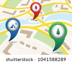 set of tourism services map... | Shutterstock .eps vector #1041588289