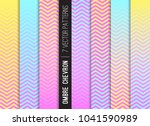 magical rainbow ombre chevron... | Shutterstock .eps vector #1041590989