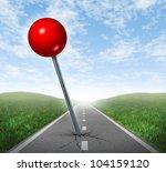 successful location direction... | Shutterstock . vector #104159120