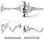 musical notes staff background... | Shutterstock . vector #104159156
