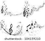 musical notes staff background...   Shutterstock . vector #104159210