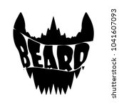 beard vector shirt design... | Shutterstock .eps vector #1041607093