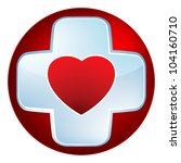 heart medical cross. eps 8... | Shutterstock .eps vector #104160710