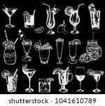 set of hand drawn sketch style... | Shutterstock .eps vector #1041610789