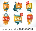 set of sale banners. special... | Shutterstock .eps vector #1041618034