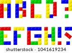 alphabet with plastic blocks | Shutterstock .eps vector #1041619234