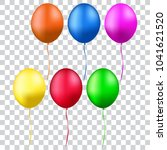 colorful realistic helium... | Shutterstock .eps vector #1041621520