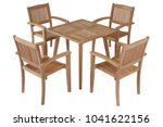 teak table garden furniture...   Shutterstock . vector #1041622156
