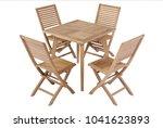 teak garden furniture  chair...   Shutterstock . vector #1041623893