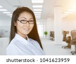 young financial businesswoman... | Shutterstock . vector #1041623959