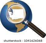 washington state map enlarged... | Shutterstock .eps vector #1041626068