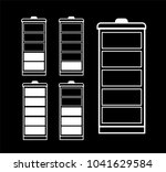 battery indicator icon set... | Shutterstock .eps vector #1041629584
