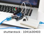 an electronic board that can be ... | Shutterstock . vector #1041630403
