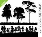 set of tree and forest...   Shutterstock .eps vector #104163440