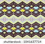 ikat geometric folklore... | Shutterstock .eps vector #1041637714