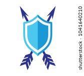 shield and arrow vector icon   Shutterstock .eps vector #1041640210