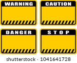warning  caution  danger  stop  ... | Shutterstock .eps vector #1041641728