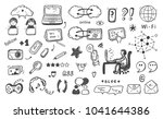 internet of things. hand drawn... | Shutterstock .eps vector #1041644386