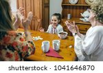 little girl winning domino her... | Shutterstock . vector #1041646870