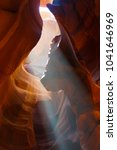 the antelope canyon  page ...   Shutterstock . vector #1041646969