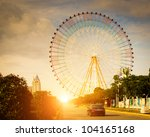 ferris wheel with sky background | Shutterstock . vector #104165168