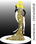 diva hollywood silhouette ... | Shutterstock .eps vector #1041656818