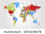 color world map vector | Shutterstock .eps vector #1041658078